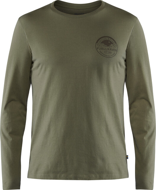 Fjällräven Forever Nature Badge Langærmet T shirt Herrer, tarmac